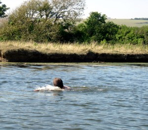 Swimming in the Cuckmere