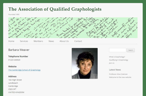 The Association of Qualified Graphologists