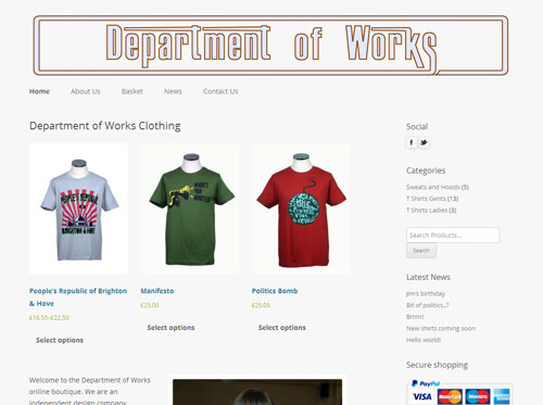 The Department of Works website