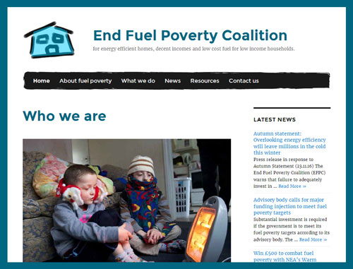 End Fuel Poverty Coalition website