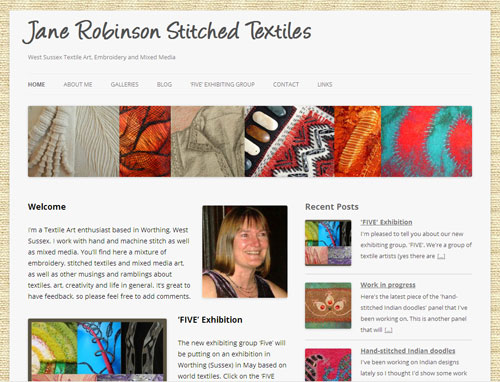 Jane Robinson Stitched Textiles website