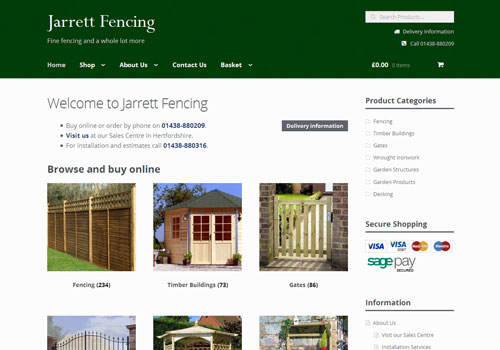 Jarrett Fencing website