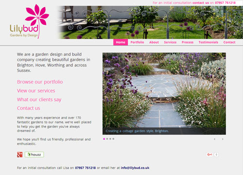 Lilybud - Gardens by Design website