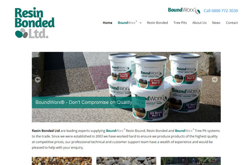 Resin Bonded website