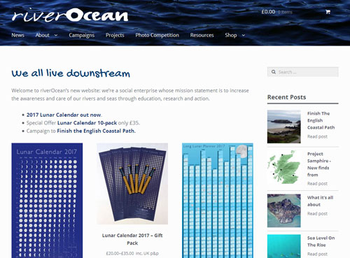 riverOcean website