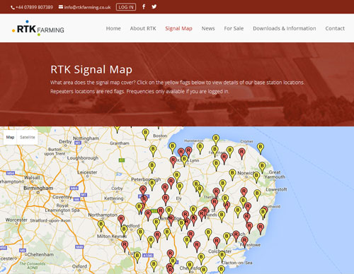 RTK Farming website