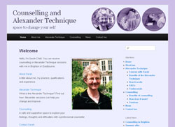 Counselling and Alexander Technique website