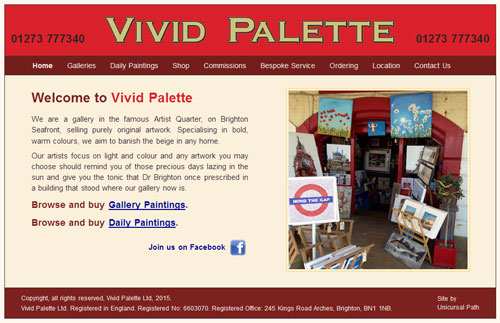 Vivid Palette website