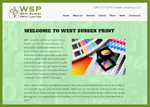 West Sussex Print website